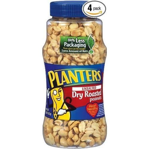 4-Ct of 16-Oz Planters Dry Roasted Peanuts (Unsalted) $6.40 + Free Shipping @ Amazon