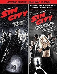 Sin City (Blu-ray) + Sin City: A Dame to Kill (3D + Blu-ray + DVD + Dig. HD) $9 + Free S&H