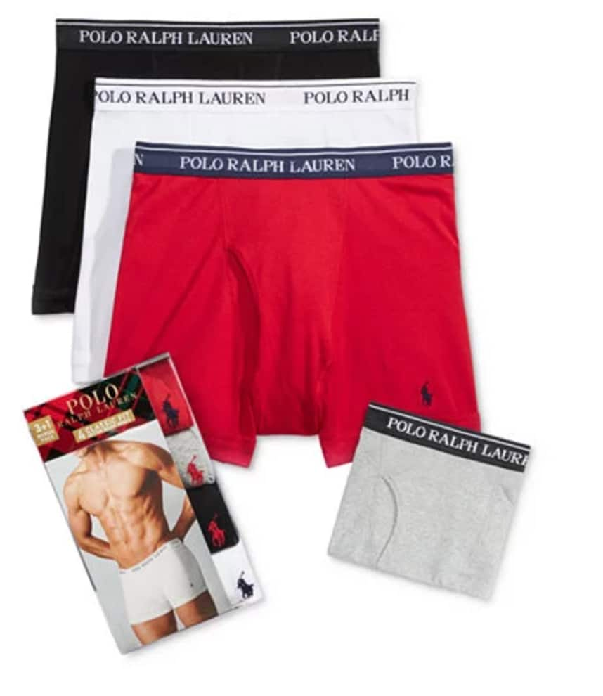 c87765da118cd7 4-Pack Ralph Lauren Polo Men's Boxer Briefs, Boxers or Undershirts ...