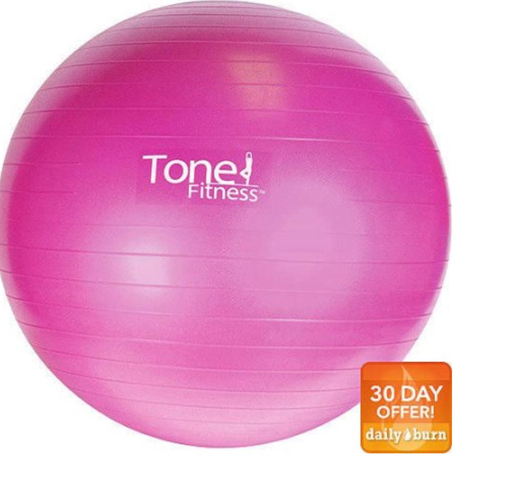 Balance Ball Walmart: Tone Fitness 55cm Or 65cm Stability Ball