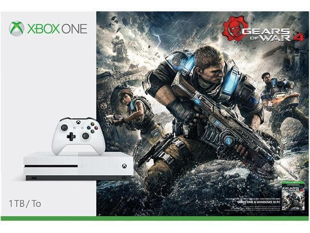 1TB Microsoft Xbox One S Gears of War 4 Console Bundle $224.99 + Free Shipping