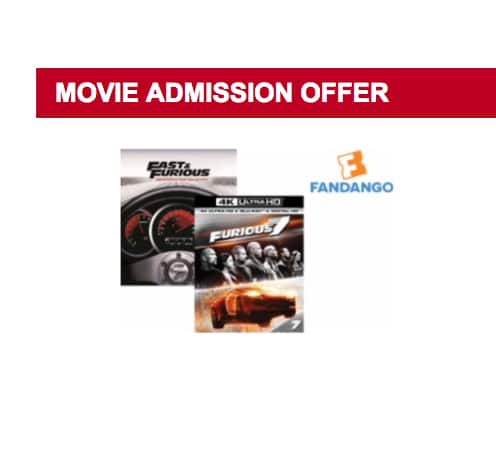 The Fast and the Furious Movies 1-7 (Blu-ray) + $8 Movie Cash Each to See The Fate of the Furious $7.99 Each & More + Free Store Pickup @ Best Buy
