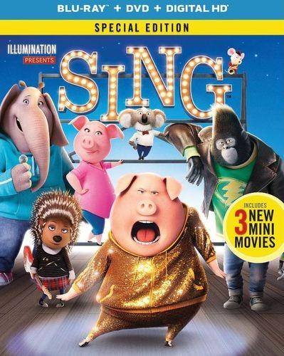 Sing (Blu-ray + DVD + Digital HD) + Sing Lunchbox $12.99 + Free Store Pickup @ Best Buy