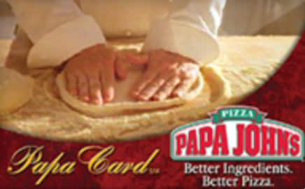 New Raise.com Customers: $10 Off $20+ Papa John's Gift Card