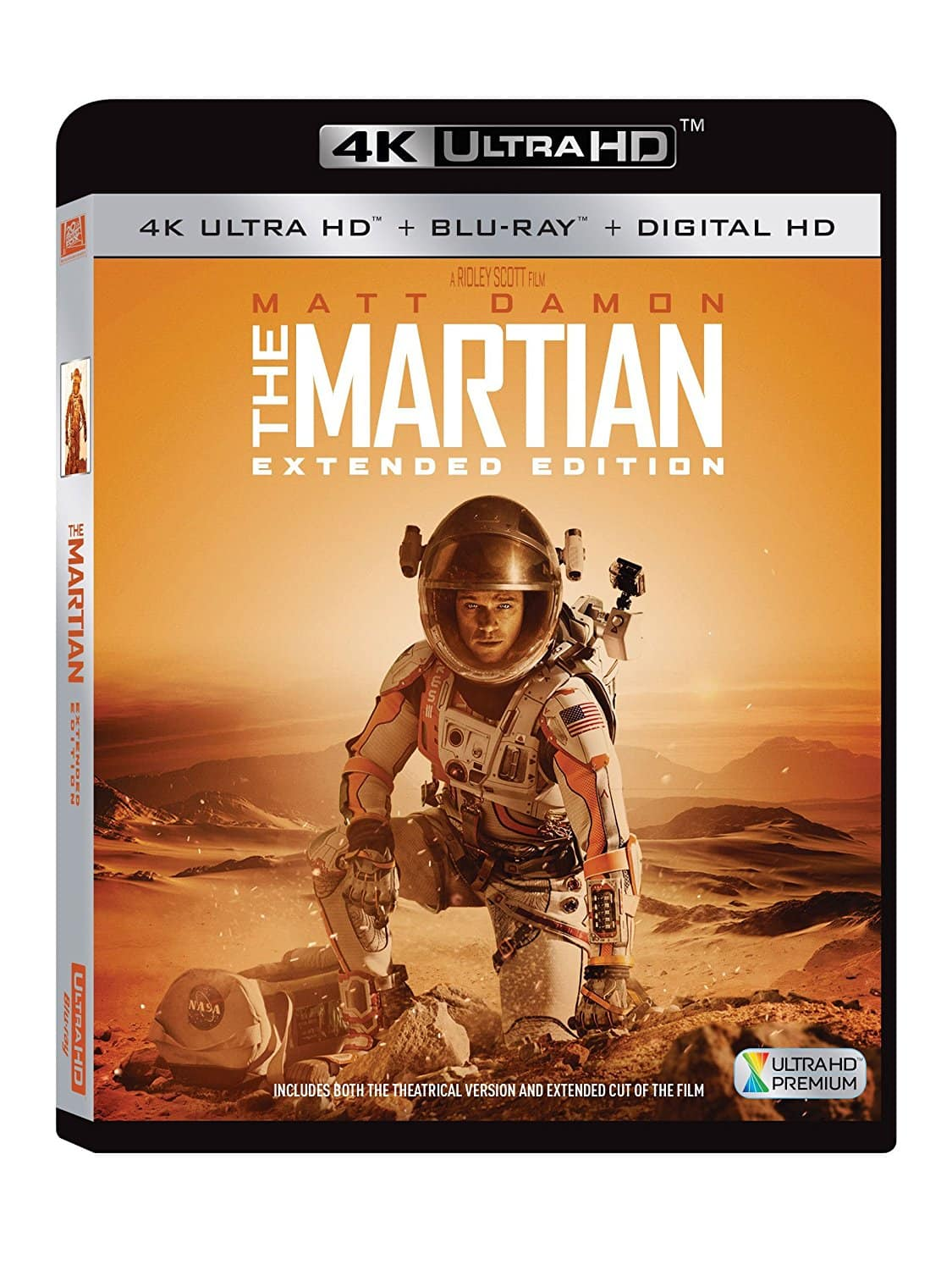 4k ultra hd blu rays the martian extended edition the. Black Bedroom Furniture Sets. Home Design Ideas