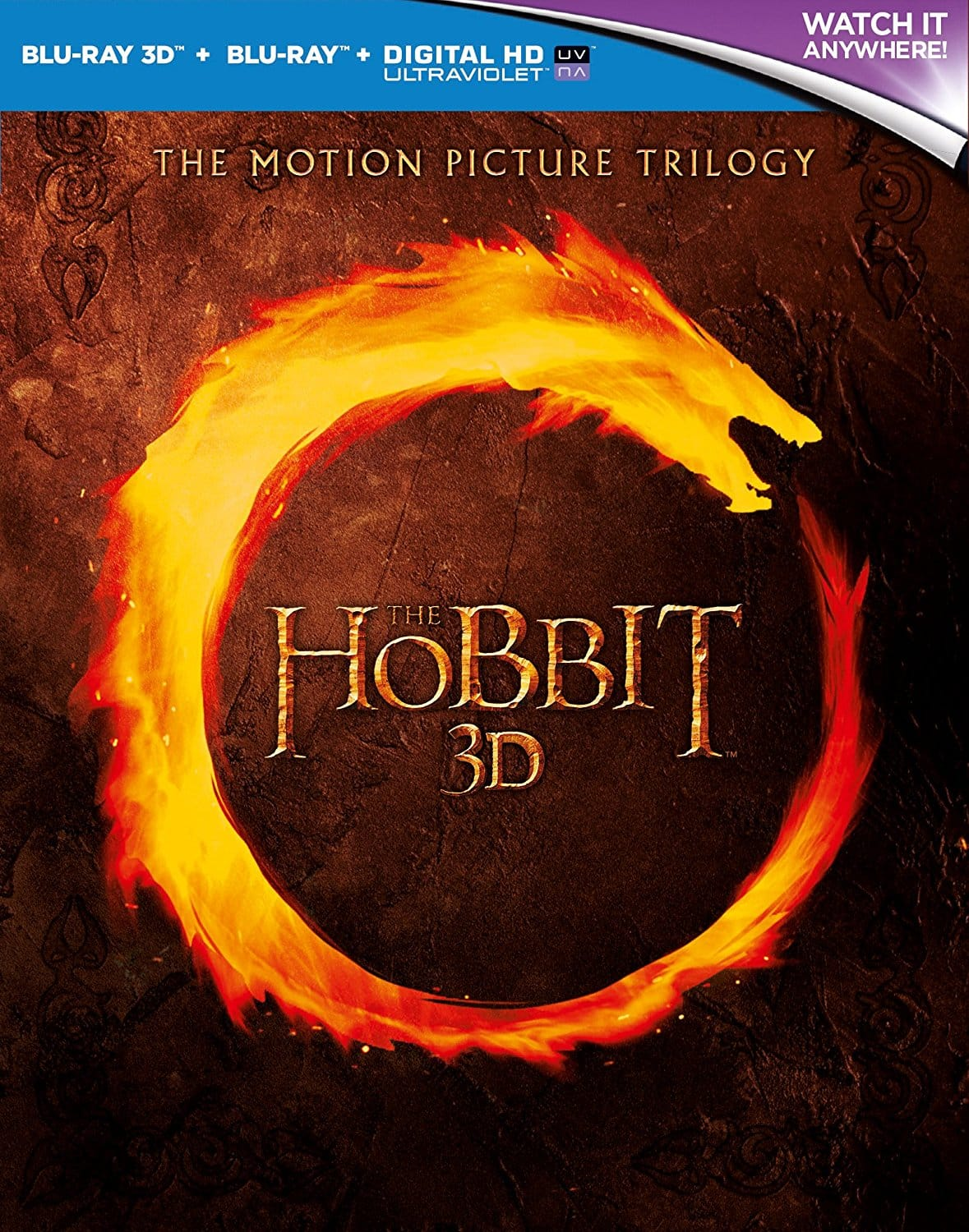 Region Free: The Hobbit Trilogy Non-Extended Version (Blu-ray 3D + Blu-ray + Digital HD) $20.80 Shipped