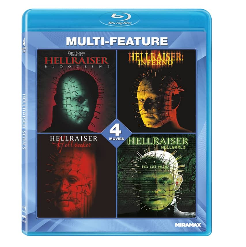 Hellraiser 4-Film Collection Set (Blu-ray) $6.96 + Free Store Pickup