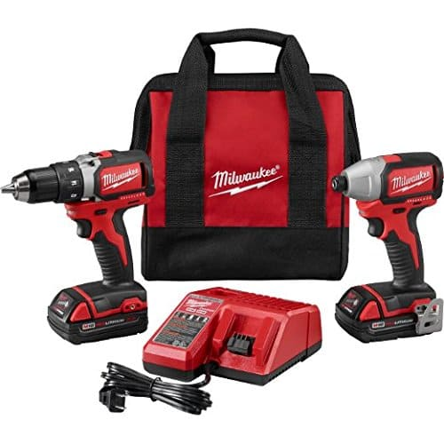 Milwaukee M18 18V Li-Ion Brushless Drill/Impact Kit $189 + Free Shipping