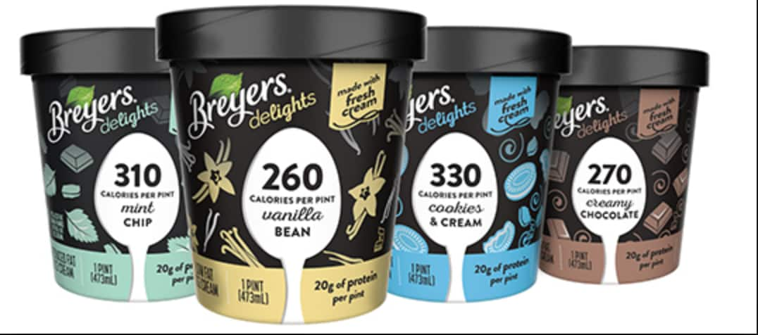 Buy One Get One Free Breyers Delights Ice Cream Pint Coupon