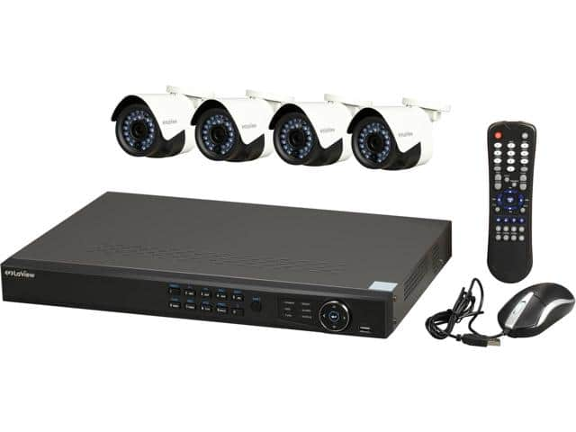 8-Channel LaView IP Surveillance System NVR + 4x 1080p Cameras $289.99 + Free Shipping