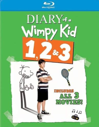 Diary of a Wimpy Kid 1, 2 & 3 Triple Feature (Blu-ray) $9.99 + Free Shipping
