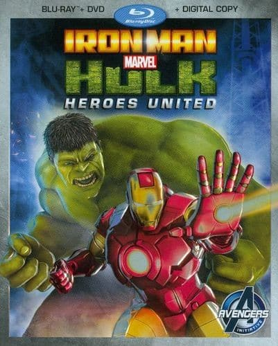 Iron Man & Hulk: Heroes United (Blu-ray + DVD + Digital HD) $5.99 + Free Shipping