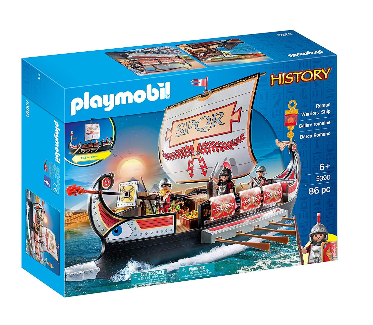 Playmobil Roman Warriors' Ship $15.30 + Free Store Pickup