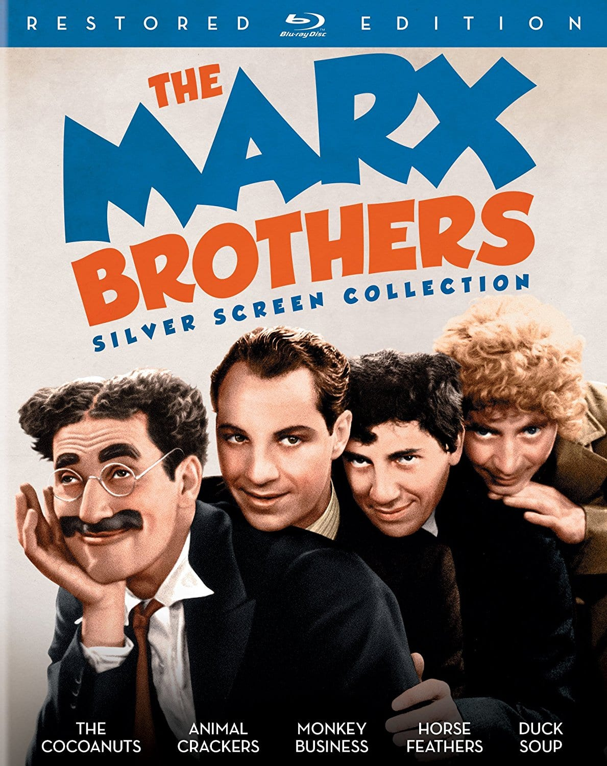 The Marx Brothers Silver Screen 5-Film Collection (Blu-ray) $17.49