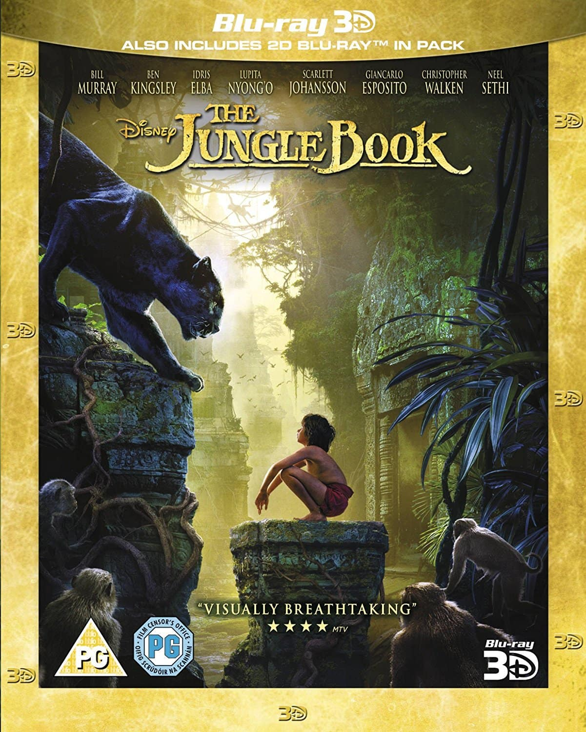 Region Free: The Jungle Book 2016 (3D Blu-ray + Blu-ray) $13.48 Shipped