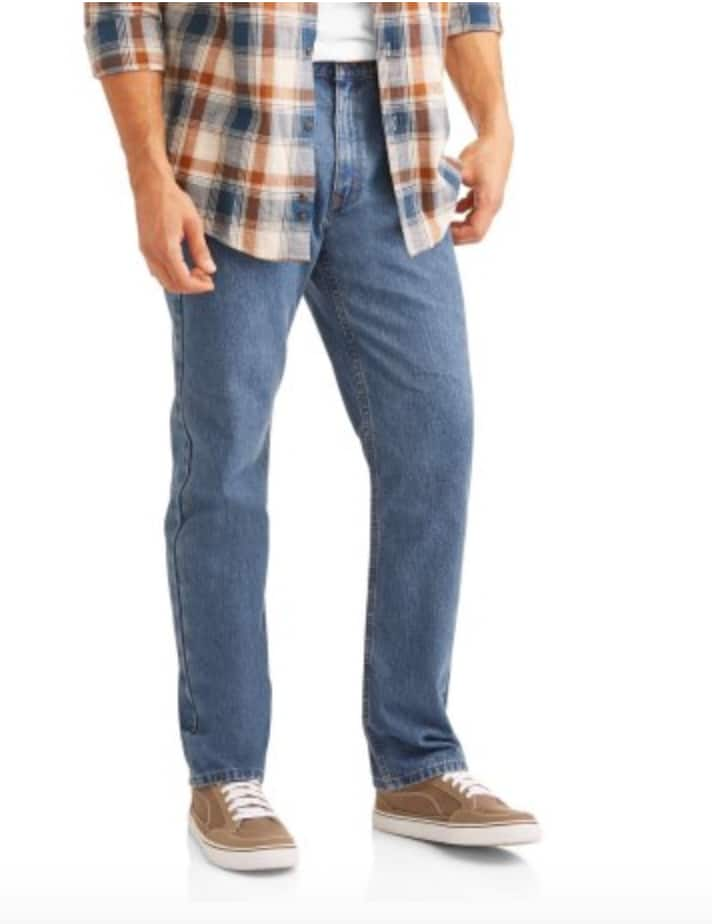 Faded Glory Men's Basic Regular Fit Jeans $7.50 + Free Store Pickup @ Walmart