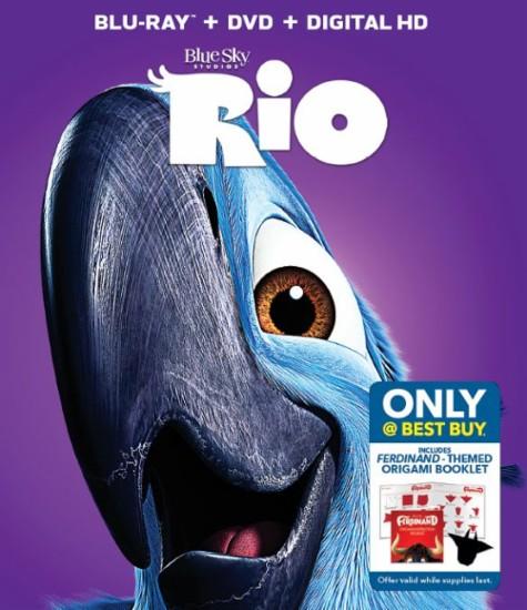 Rio (Blu-ray + DVD + Digital HD) or Rio 2 (Blu-ray + DVD + Digital HD) + $8 Movie Cash to See Ferdinand $7.99 Each + Free Shipping