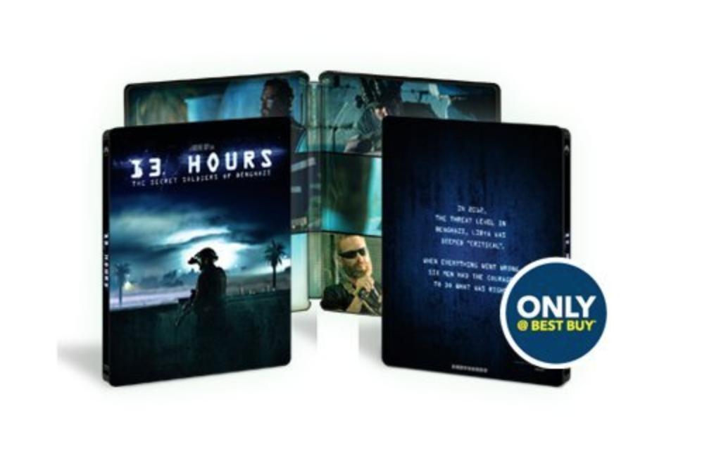 13 Hours: The Secret Soldiers of Benghazi Steelbook (Blu-ray + DVD + Digital HD) $9.99 + Free Shipping @ Best Buy