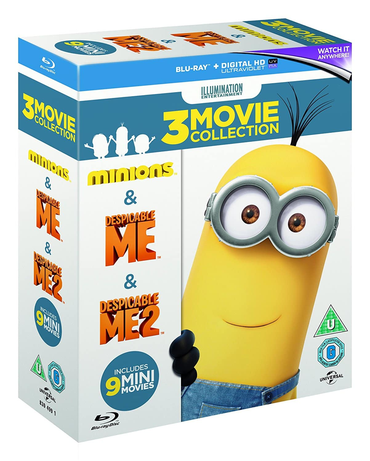 Despicable Me (1 / 2 / Minions) Box Set (Region Free Blu-ray + Digital HD) $11.58 Shipped