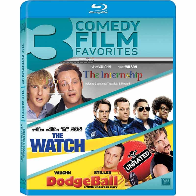 Internship, The Watch & Dodgeball (Blu-ray) $4.99 + Free Store Pickup