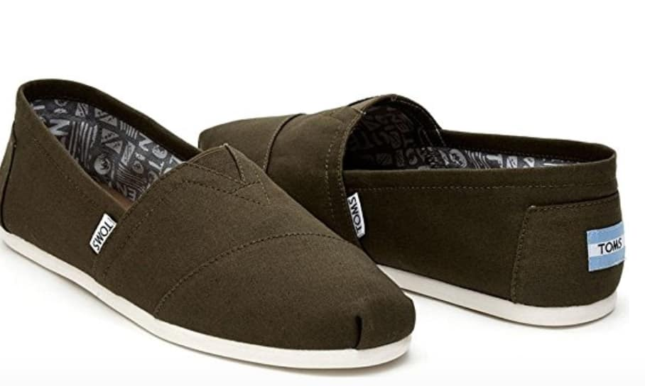 TOMS Men's Canvas Slip-Ons $20.35 Shipped