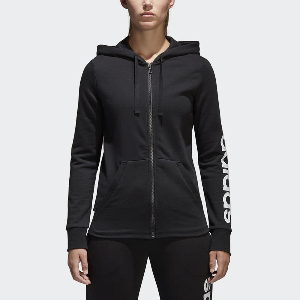 Adidas Women's Essentials Linear Full Zip Hoodie $19.99 + Free Shipping