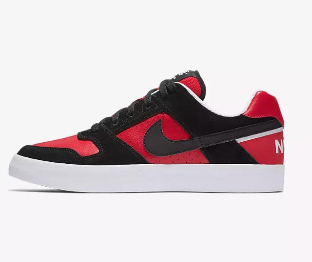 reputable site dd4db f8ab3 Nike Mens SB Delta Force Vulc Skateboarding Shoes (BlackRed