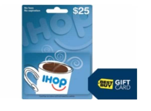$5 Best Buy Gift Card w/ $50 IHOP Gift Card Purchase @ Best Buy