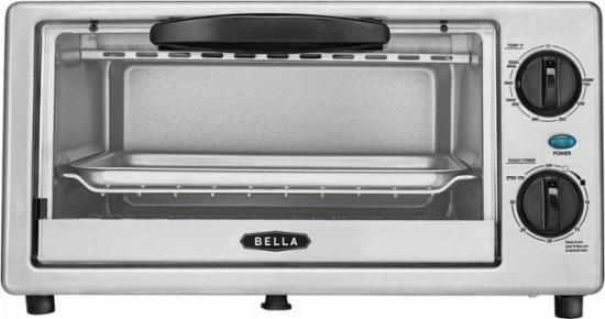 Bella 4-Slice 1000W Toaster Oven (Black/Silver) $14.99 + Free Store Pickup @ Best Buy