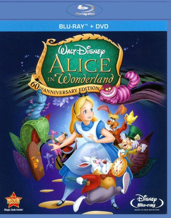 Alice in Wonderland 60th Anniversary Edition (Blu-ray + DVD) $7.99 + Free Store Pickup @ Best Buy