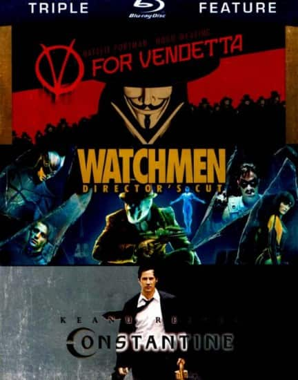V for Vendetta + Watchmen + Constantine Triple Feature (Blu-ray) $8.99 + Free Store Pickup @ Best Buy $19.98