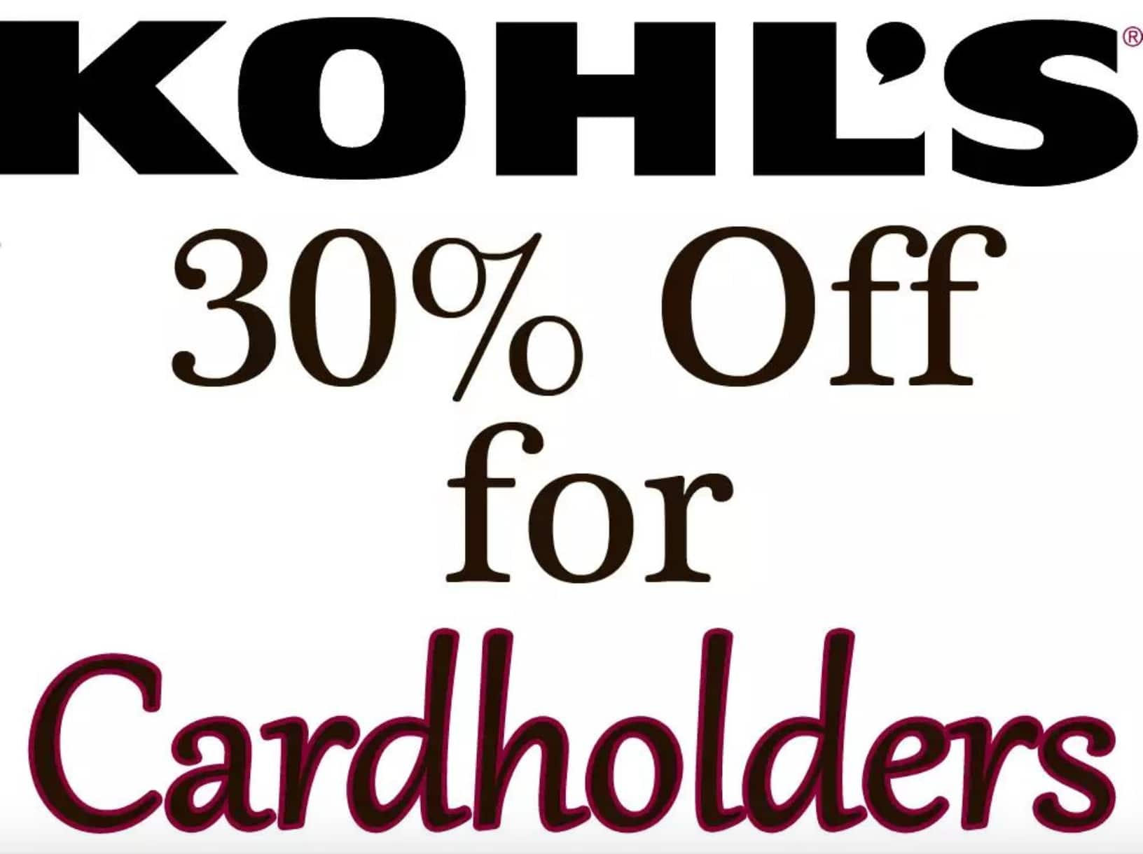 ff91d6a40a4a0 Kohl's Cardholders Coupon for Additional Savings - Slickdeals.net