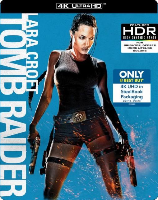 Lara Croft: Tomb Raider Steelbook (2001, 4K UHD + Blu-ray + Digital HD) $11.99 + Free Store Pickup @ Best Buy