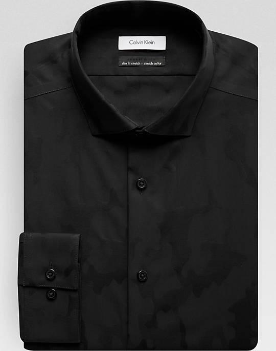 61139775 Calvin Klein Infinite Non-Iron Slim Fit Dress Shirt (Big & Tall Sizes,