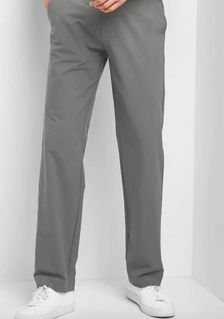 13946980bde Gap Extra 40% + 10% Off Clearance  Men s Hybrid Khakis Straight Fit ...