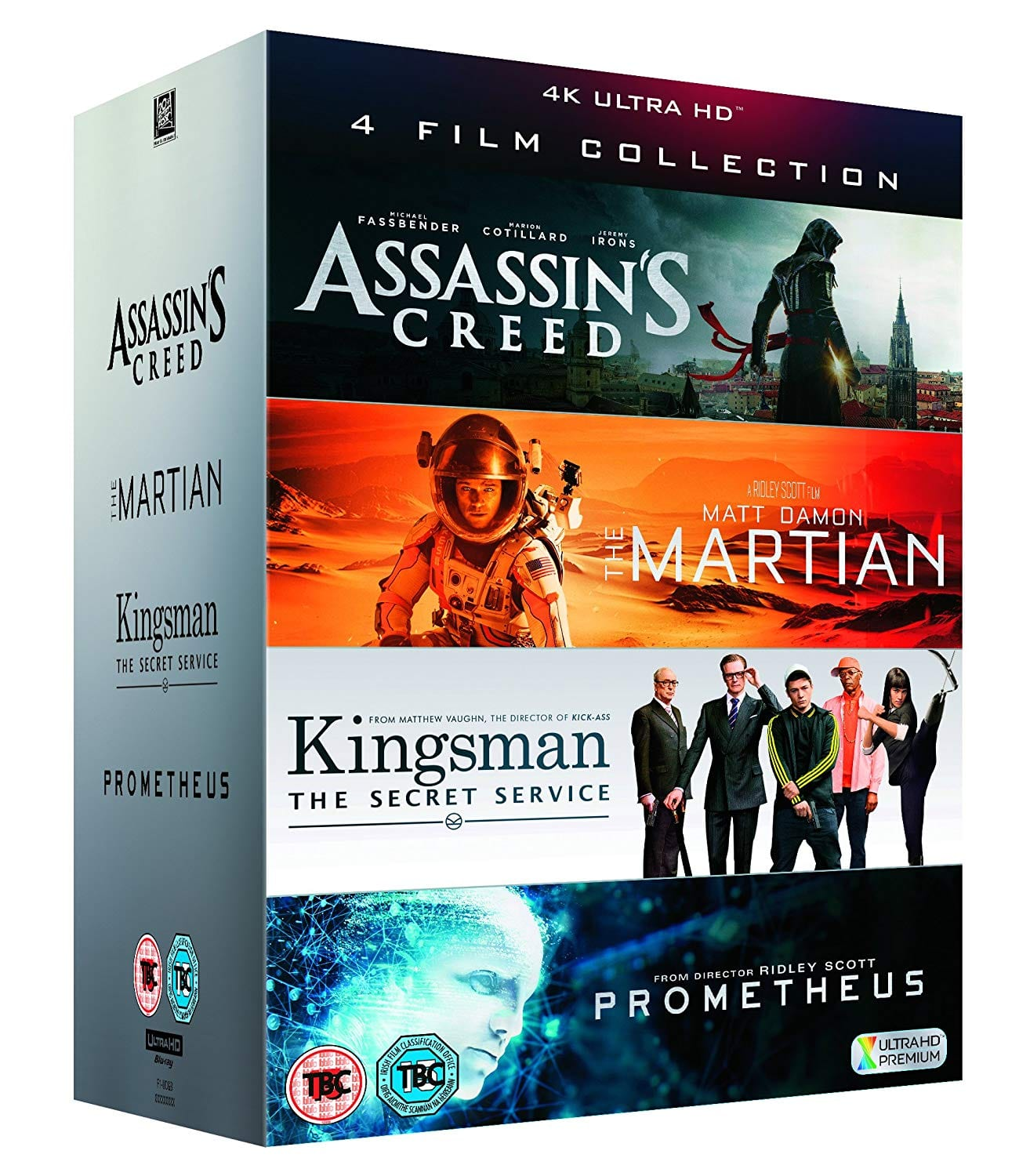 The Martian: Extended Edition + Kingsman: The Secret Service + Prometheus + Assassin's Creed (4K Ultra HD + Blu-ray) $28.37 Shipped @ Amazon UK