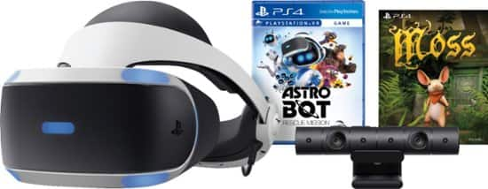 Save $100 on All PS VR Bundles: (12/16 – 12/26): Sony PlayStation VR Astro Bot Rescue Mission + Moss Bundle $199.99 or $189.99 w/ REDcard & More @ Target