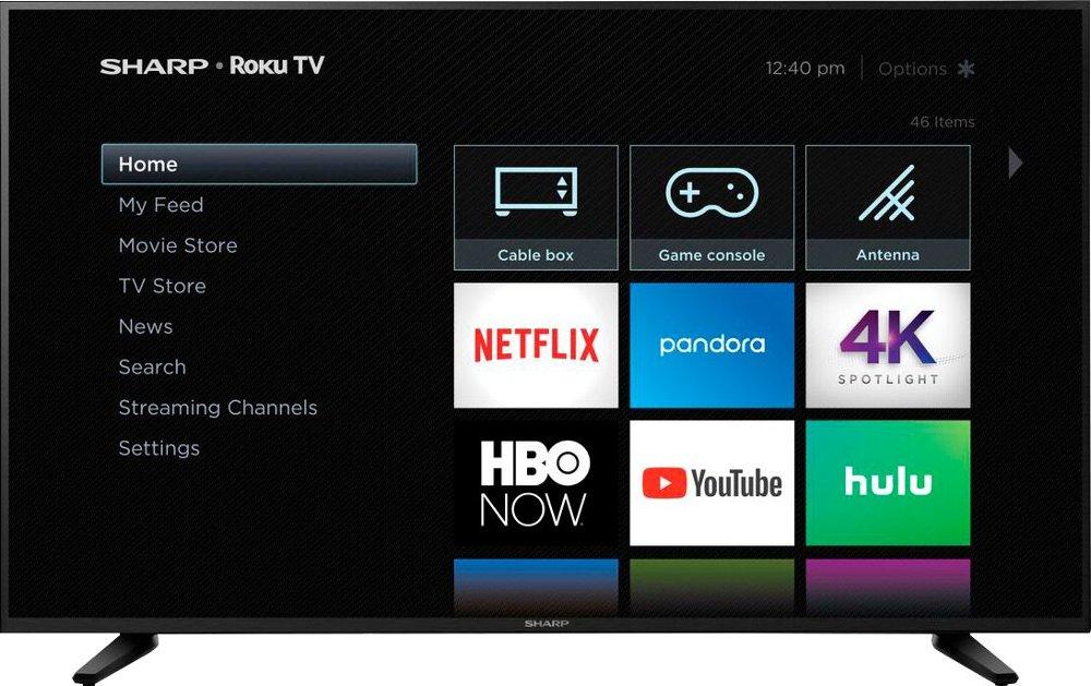 "58"" Sharp LC-58Q7370U 4K UHD HDR Roku Smart LED HDTV $349.99 + Free Shipping @ Best Buy"