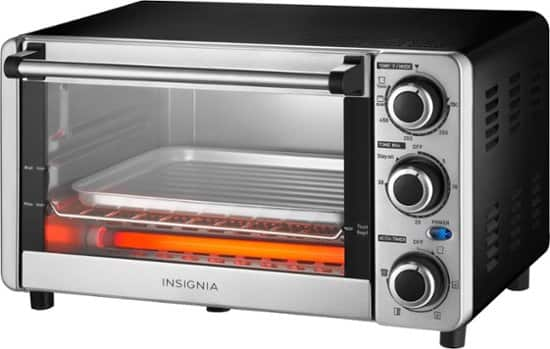 Insignia 1100W 4-Slice Toaster Oven (Stainless Steel) $19.99 + Free Store Pickup @ Best Buy