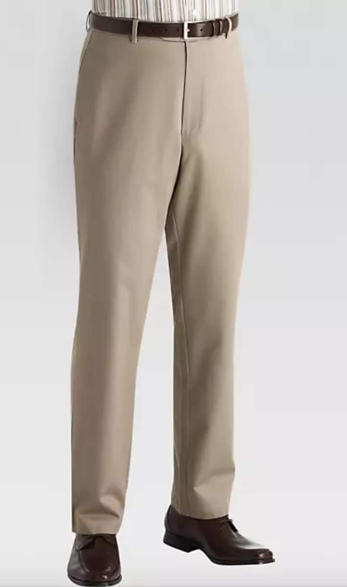 b2a9e0225 Joseph & Feiss Men's Khaki Classic Fit Pants $9.99 + Free Shipping @ Men's  Wearhouse