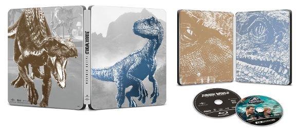 My Best Buy Members: Jurassic World: Fallen Kingdom Best Buy Exclusive Steelbook (4K UHD + Blu-ray + Digital HD) $12.99 + Free Shipping