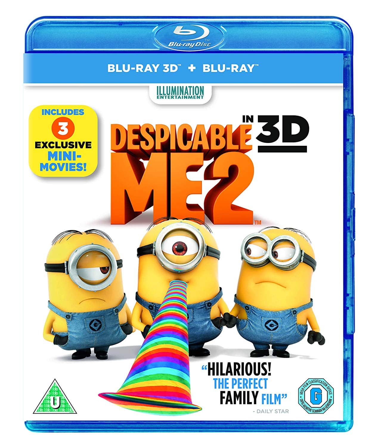 3D: Despicable Me 2 (Blu-ray 3D + Blu-ray) $8 85, Teenage