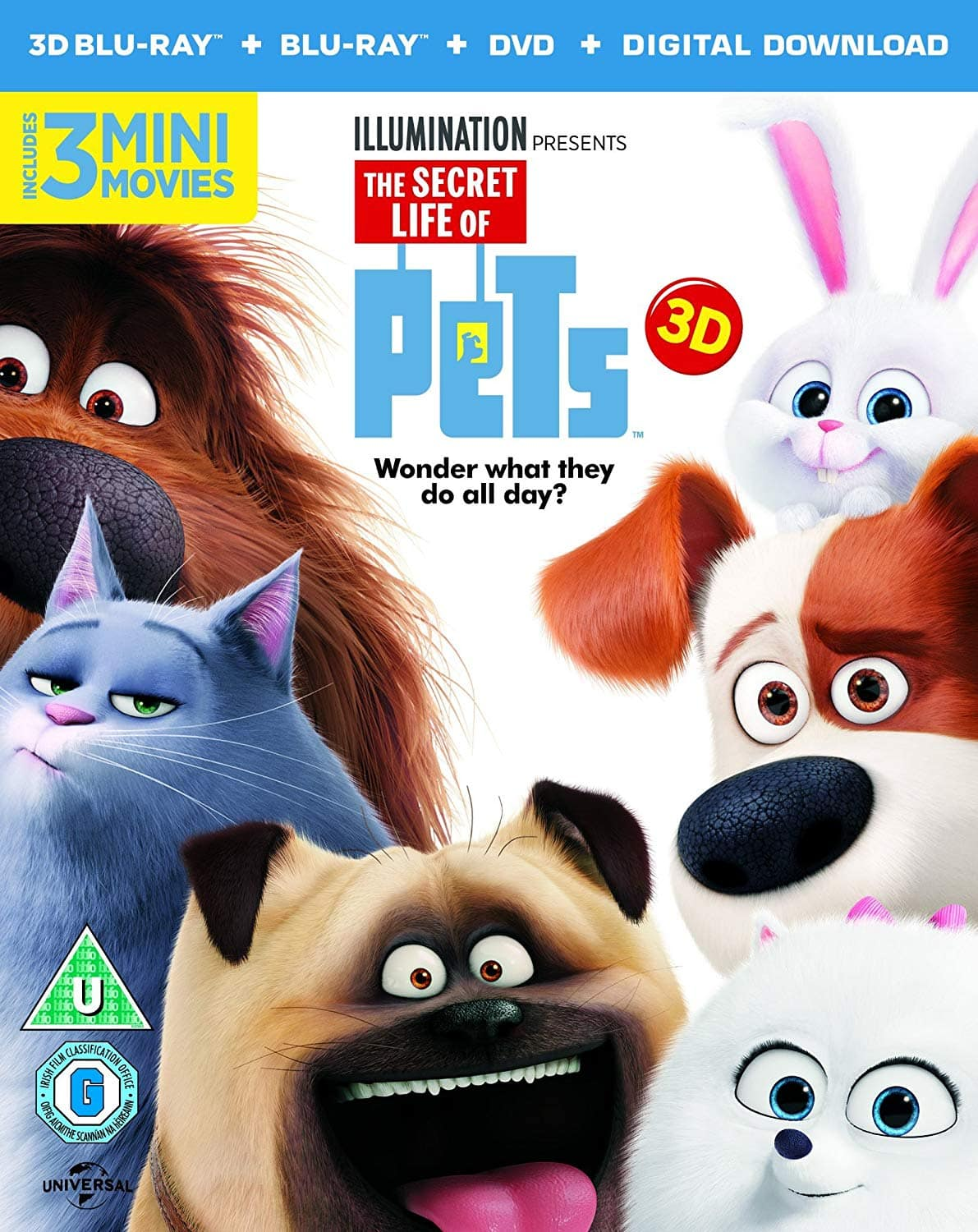 3D Movies: The Secret Life Of Pets (Region Free Blu-ray 3D + Blu-ray) $10.66 Shipped & More @ Amazon UK