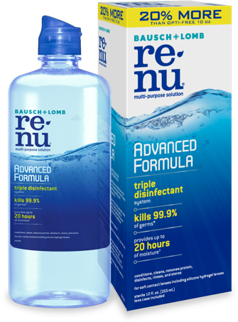 Walgreens Stores: 12-Oz Bausch + Lomb ReNu Contact Lens Solution $1.99 after Coupon B&M