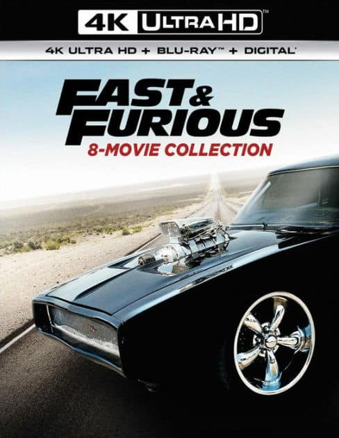 Fast & Furious 8-Movie Collection (4K UHD + Blu-ray + Digital HD) $47.99 + Free Shipping