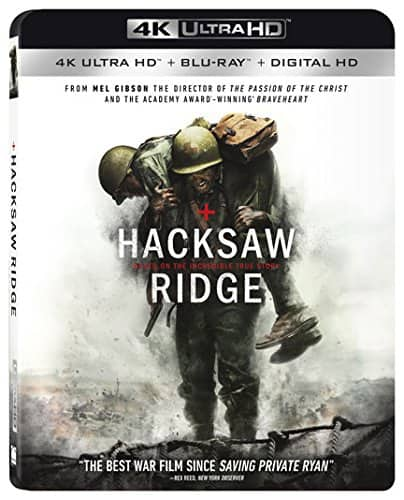 Hacksaw Ridge (4K Ultra HD + Blu-ray + Digital HD) $8 @ Amazon