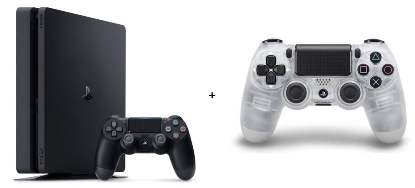 1TB Playstation 4 Slim + Crystal DualShock Controller - Slickdeals net