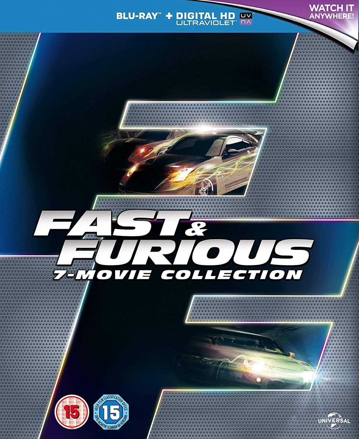 Fast & Furious 7-Movie Collection (Region-Free Blu-ray) $15 shipped @ Amazon UK