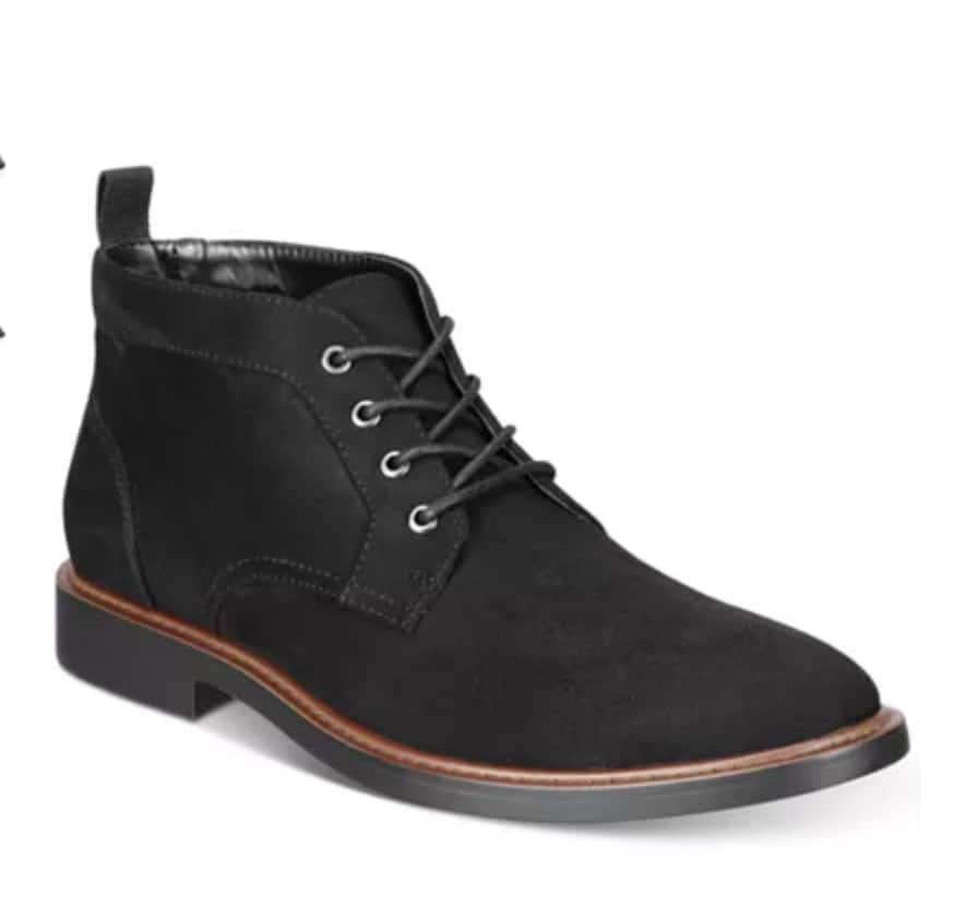 Alfani Men's Aiden Chukka Boots (Black or Brown) $19.99 + Free Store Pickup @ Macy's