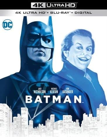 Batman Movies 1989-1997 (4K Ultra HD + Blu-ray + Digital): Batman + Batman Returns + Batman Forever + Batman & Robin $14.98 Each + Free Shipping